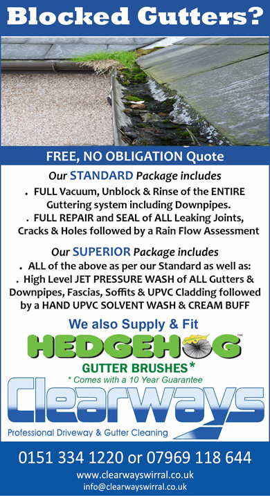 clearways gutter cleaning offer banner