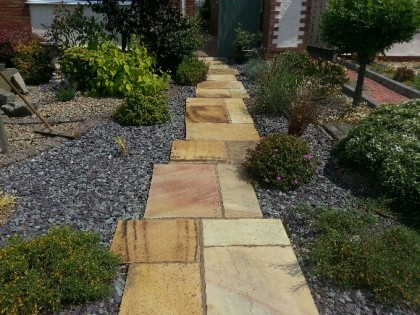 Indian Sandstone Path cleaned and sealed image