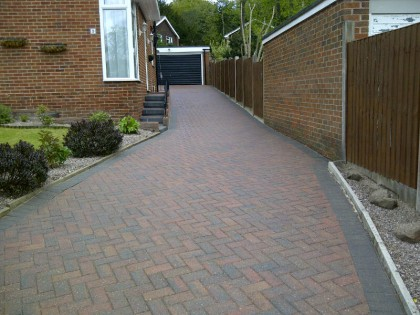 Block paved driveway cleaned and sealed image