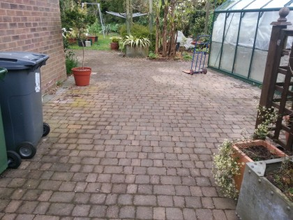 Block paving before cleaning and sealing image